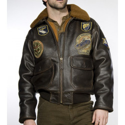 Мужская куртка Schott G1TG с нашивками